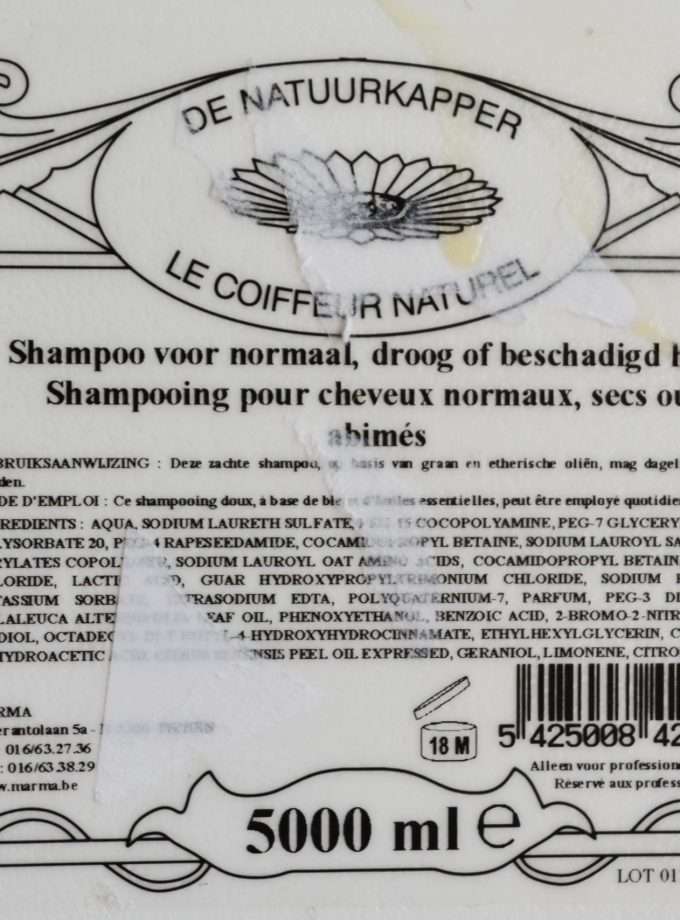 shampoo vloeibaar droog